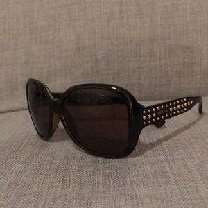 Prada Tortoise Shell & Gold Stud Sunglasses